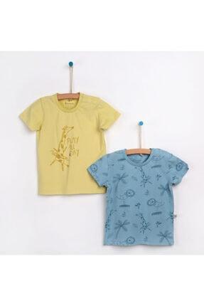 تیشرت خاص نوزاد پسرانه برند Bebbek رنگ زرد ty117903609