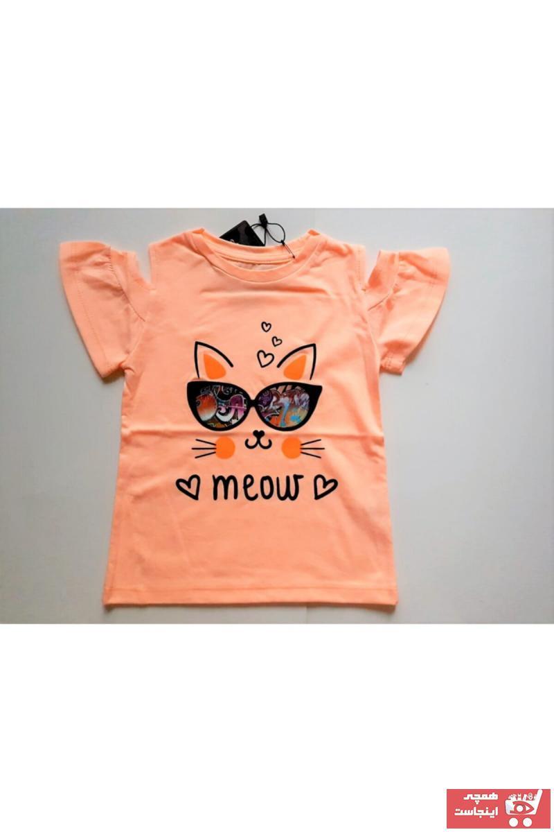 سفارش تیشرت نوزاد دخترانه ارزان برند Divonette رنگ نارنجی کد ty118918242