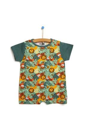 فروش پستی ست سرهمی نوزاد پسرانه برند HelloBaby رنگ سبز کد ty121395322