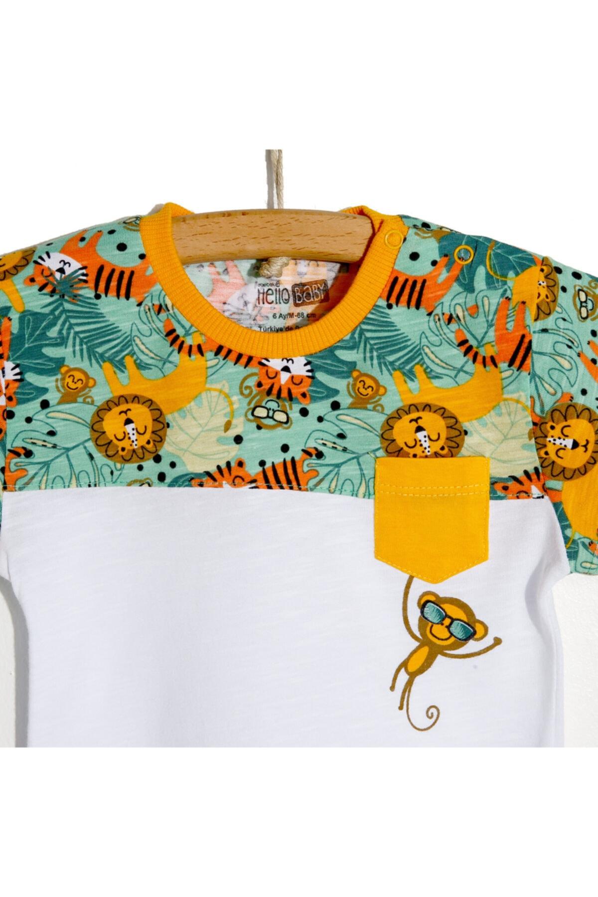 خرید ارزان تیشرت نوزاد پسرانه اسپرت برند HelloBaby کد ty122982739