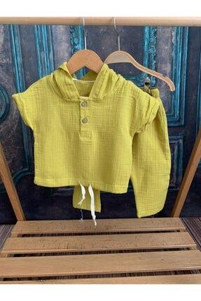 خرید مدل ست لباس نوزاد پسرانه برند Mini Baray رنگ زرد ty123626016