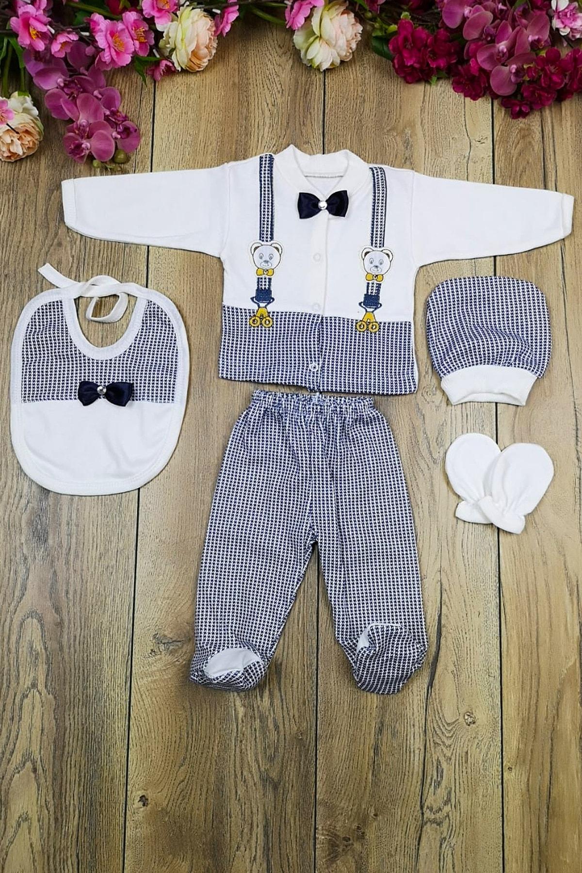 خرید پستی ست لباس نوزاد فانتزی برند Bombinoo رنگ لاجوردی کد ty31814914
