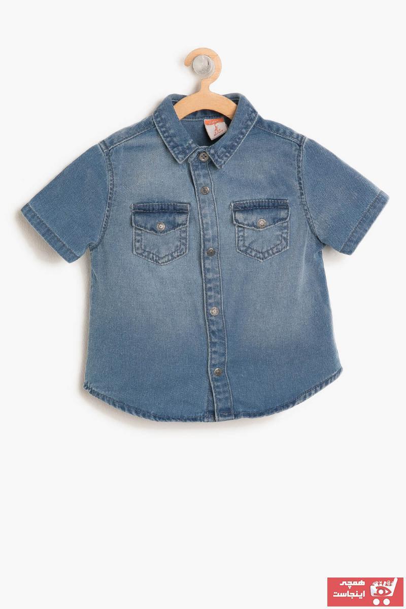مدل پیراهن نوزاد پسر  برند Koton Kids رنگ آبی کد ty3207788