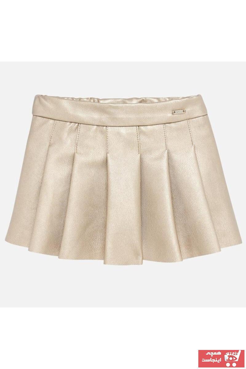 خرید انلاین دامن جدید نوزاد دخترانه شیک برند MAYORAL رنگ طلایی ty32186488