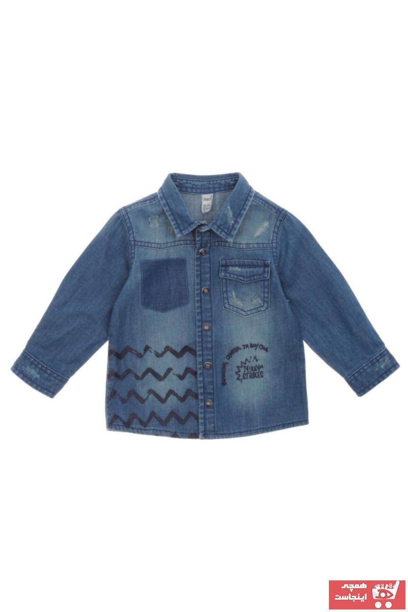 اصل پیراهن نوزاد پسر برند Panço رنگ لاجوردی کد ty32561545