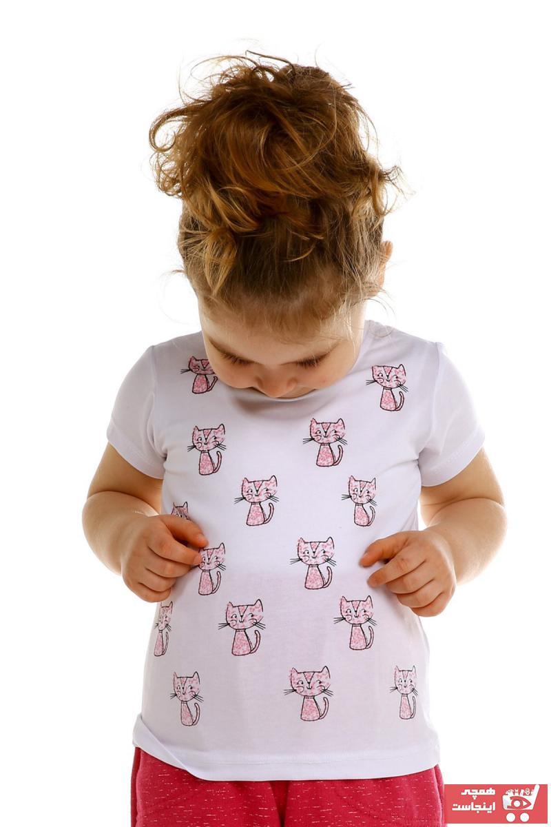 خرید پستی تیشرت نوزاد دخترانه پارچه نخی برند Tuffy کد ty32929633