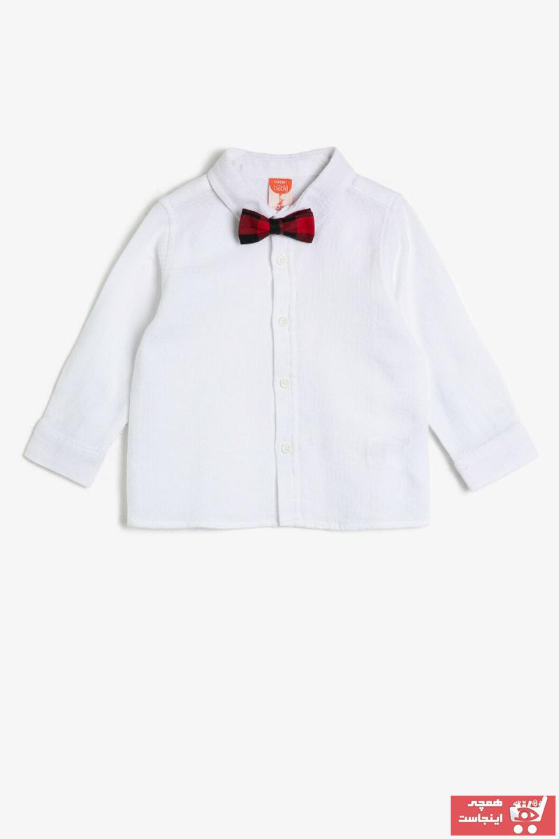 خرید مدل پیراهن نوزاد پسرانه برند Koton Kids رنگ بژ کد ty33368285