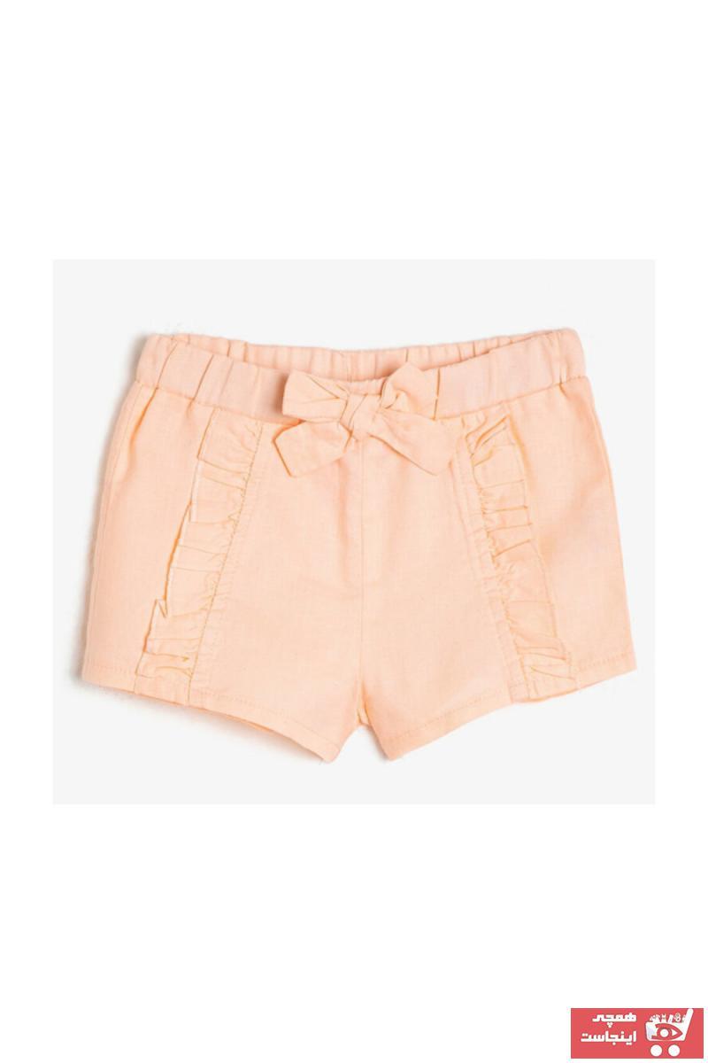 شلوارک نوزاد دختر اینترنتی برند Koton Kids رنگ صورتی ty35136127