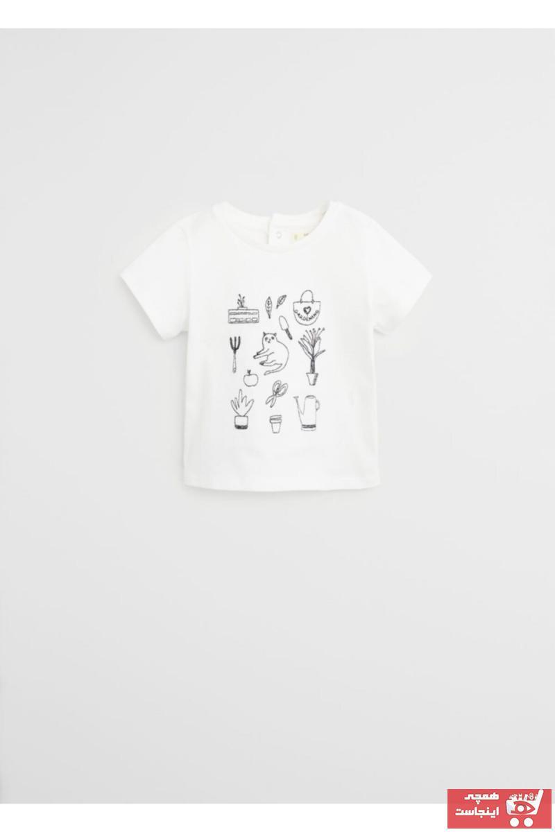 تیشرت جدید نوزاد دخترانه شیک برند منگو کد ty35696102