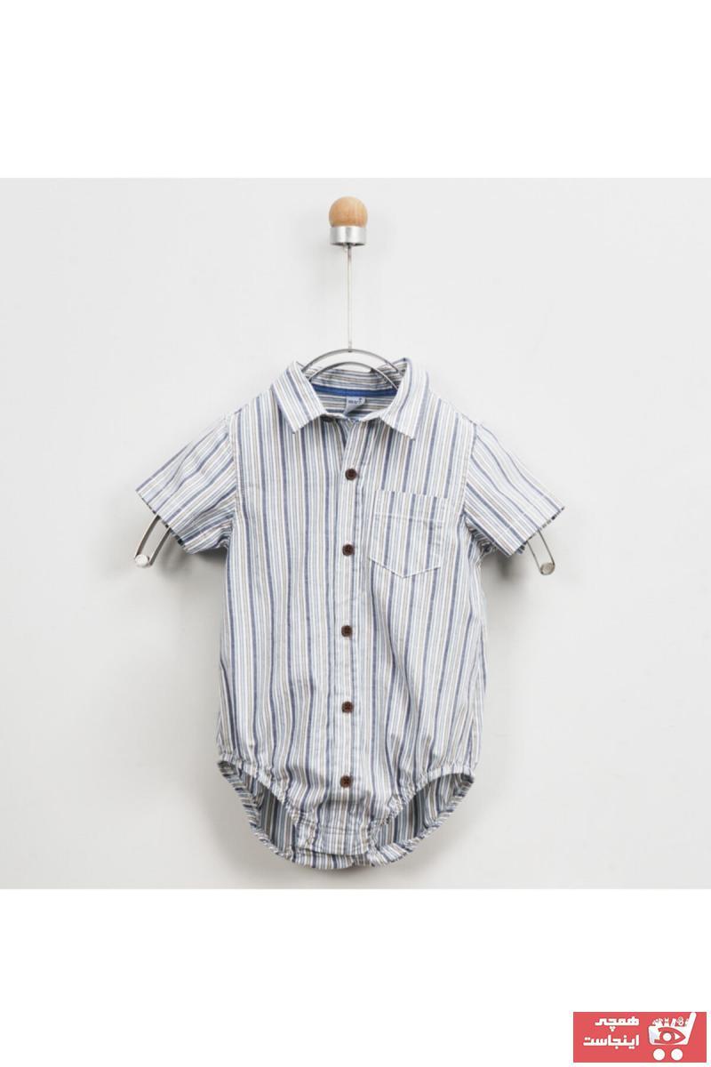 پیراهن نوزاد پسر ارزان قیمت برند Panço رنگ آبی کد ty36676551