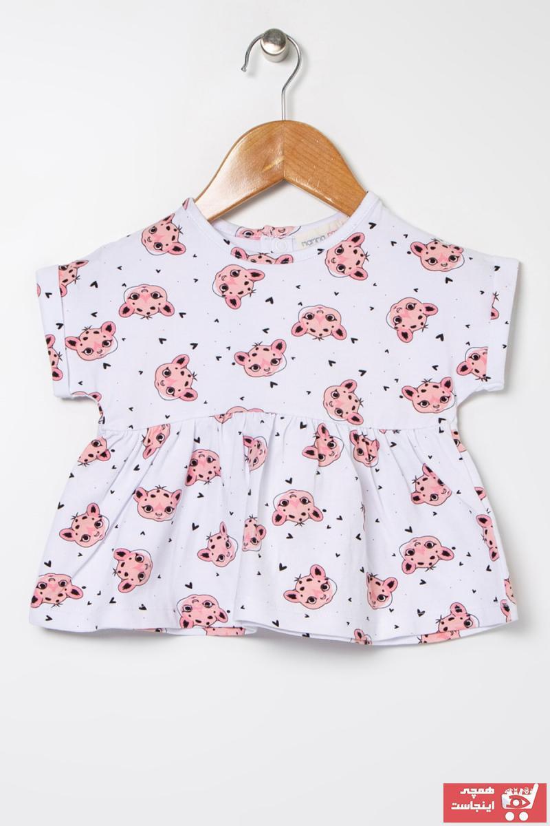 حرید اینترنتی تیشرت نوزاد دخترانه ارزان برند Mammaramma کد ty38941434