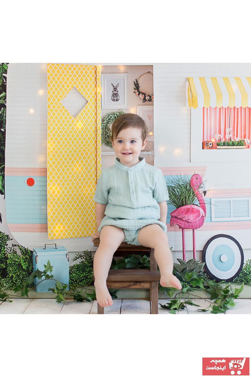 خرید  پیراهن نوزاد پسر فانتزی برند Organicera رنگ سبز کد ty39235342