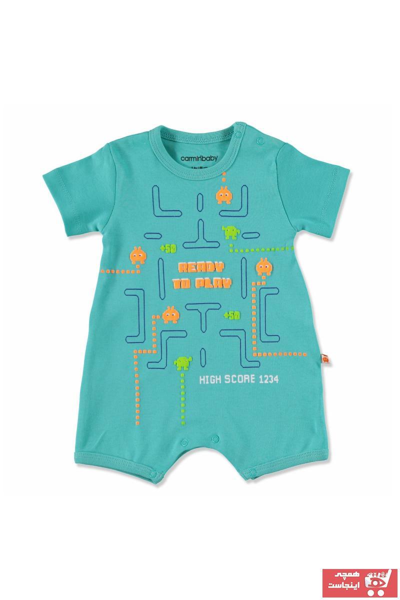 فروش سرهمی نوزاد پسرانه برند Carmin Baby رنگ سبز کد ty40589423