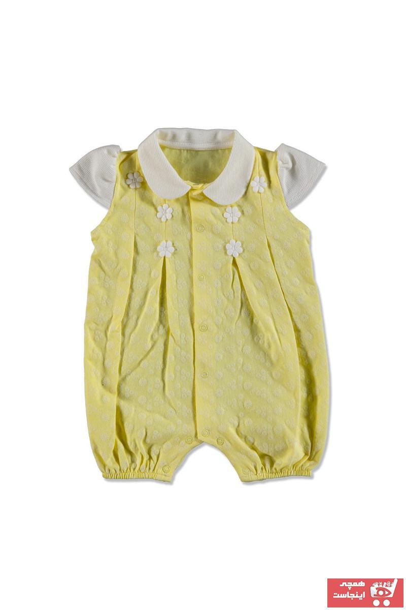 سفارش سرهمی نوزاد پسرانه ارزان برند Mymio رنگ زرد ty40589734