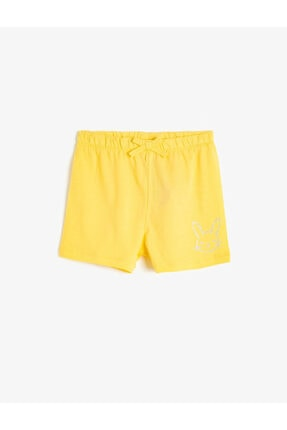 شلوارک نوزاد دختر سال ۹۹ برند Koton Kids رنگ زرد ty42542258