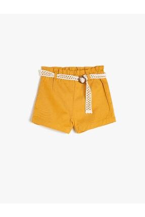 فروش شلوارک نوزاد دختر 2021 برند Koton Kids رنگ زرد ty45722803