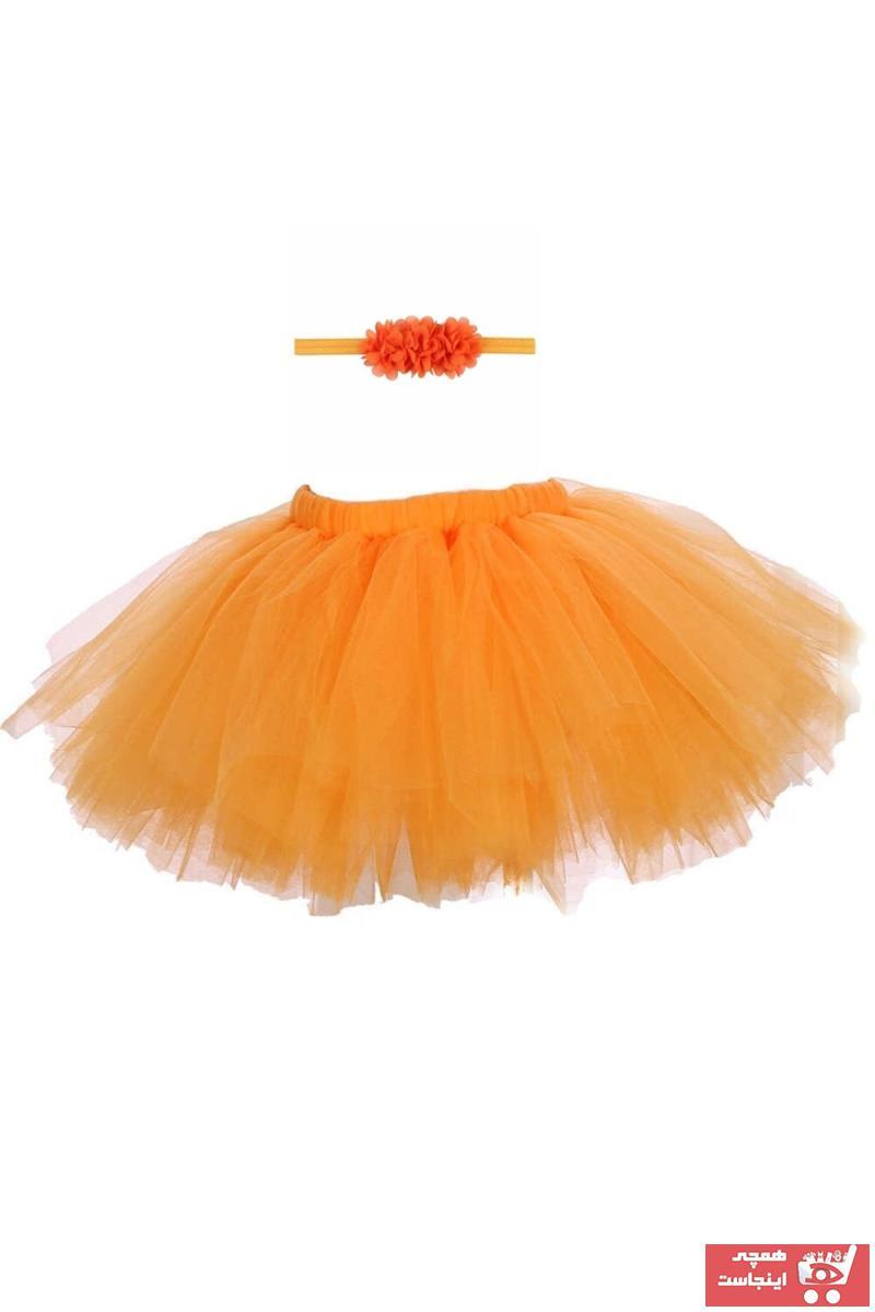 دامن نوزاد دخترانه حراجی برند bba new trend رنگ نارنجی کد ty47348894