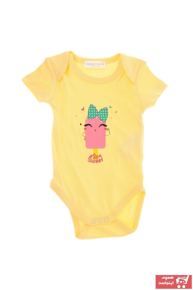 تیشرت نوزاد دخترانه ترک برند Mammaramma رنگ زرد ty48052064