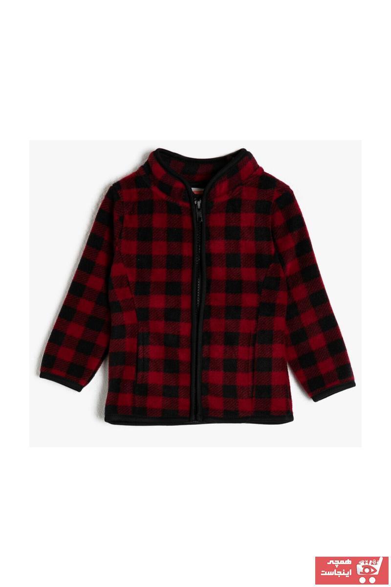 خرید  سویشرت نوزاد پسرانه پارچه ارزانی برند Koton Kids رنگ قرمز ty48813411