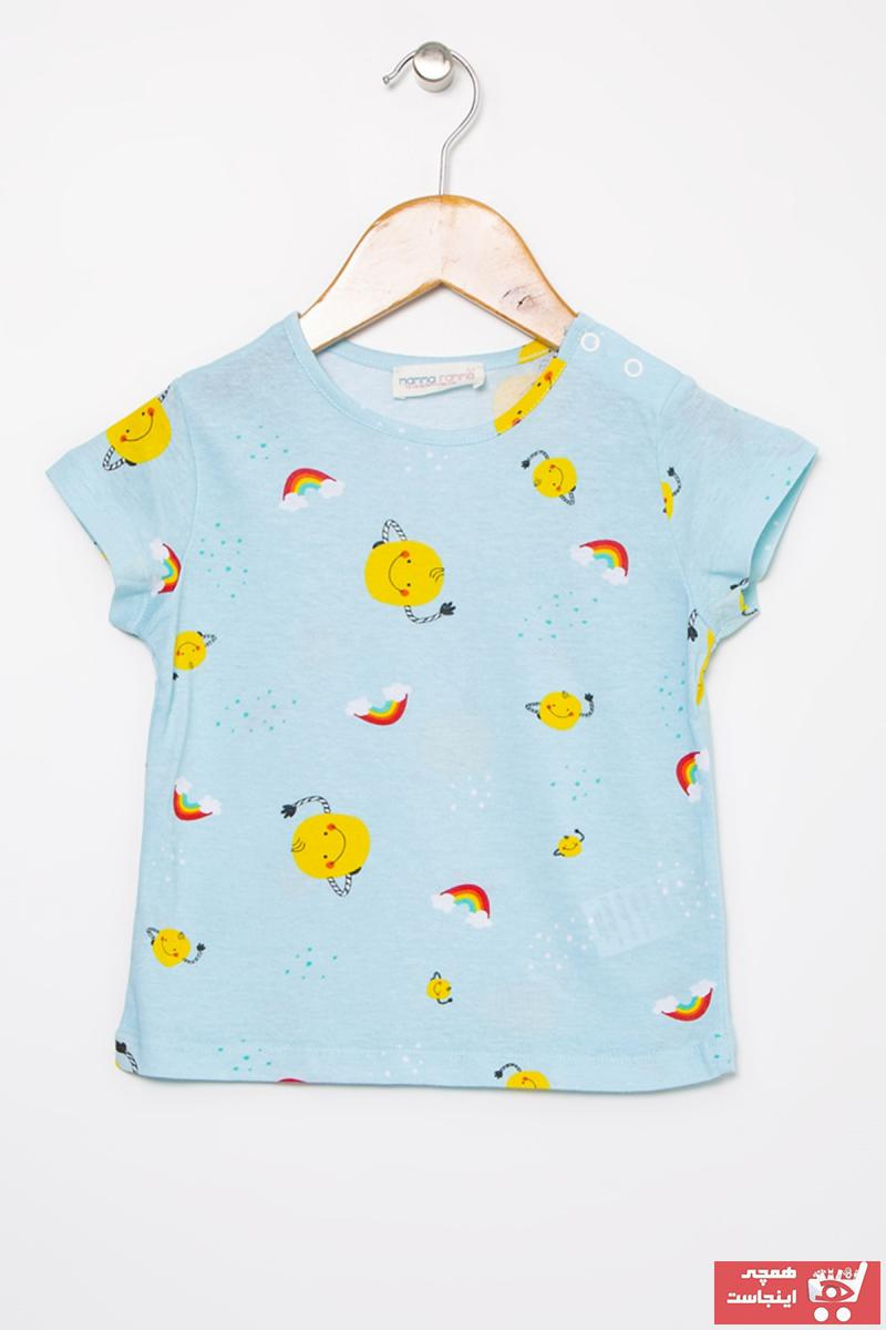 فروش تیشرت نوزاد پسرانه حراجی برند Mammaramma رنگ آبی کد ty49719963