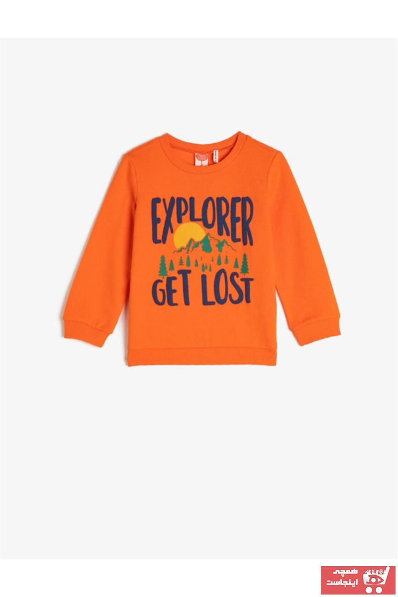 سویشرت نوزاد پسر ترکیه برند Koton Kids رنگ نارنجی کد ty49885638