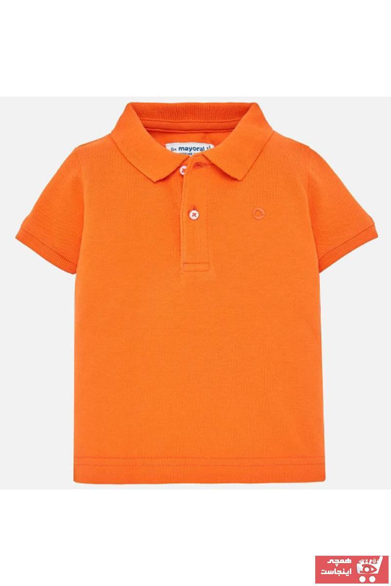 حرید اینترنتی تیشرت نوزاد پسرانه ارزان برند MAYORAL رنگ بژ کد ty5049660