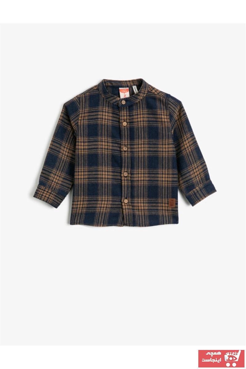 خرید اینترنتی پیراهن نوزاد پسرانه فانتزی برند Koton Kids رنگ آبی کد ty57747049