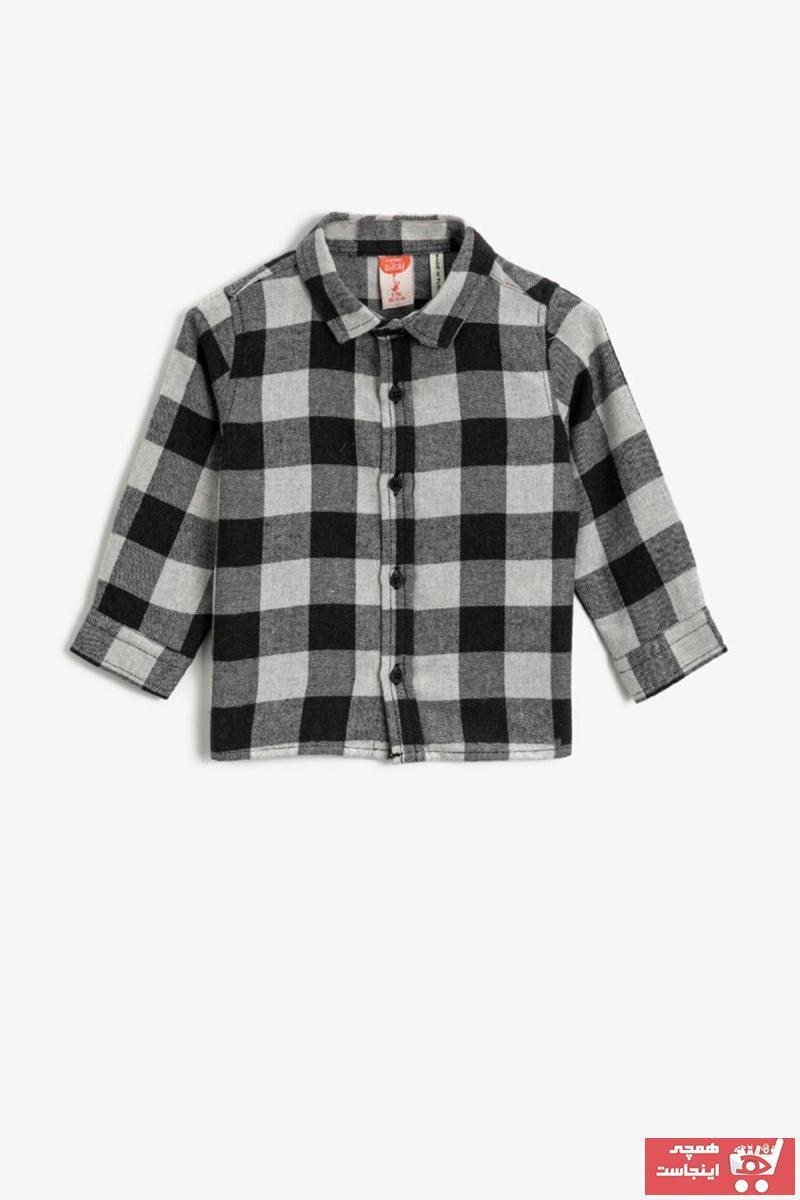 خرید اینترنتی پیراهن نوزاد پسرانه برند Koton Kids رنگ مشکی کد ty59319137