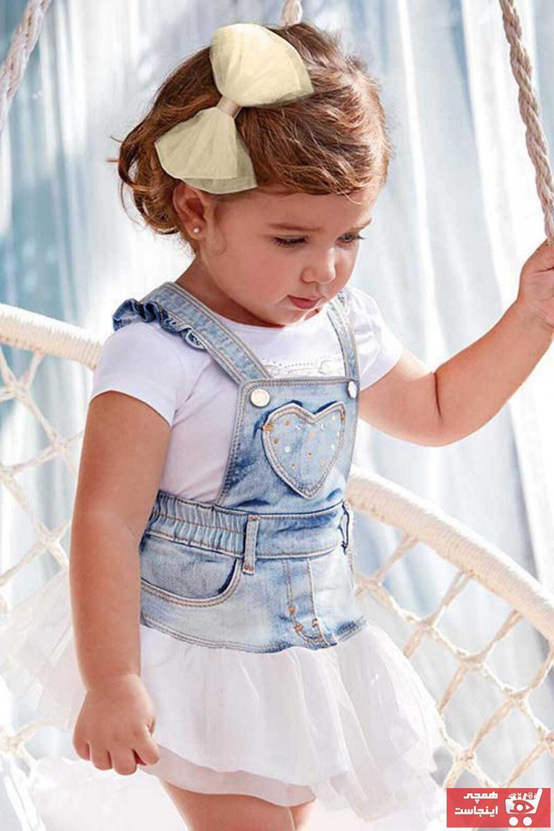 دامن نوزاد دخترانه سال ۹۹ برند MAYORAL رنگ بژ کد ty6085575