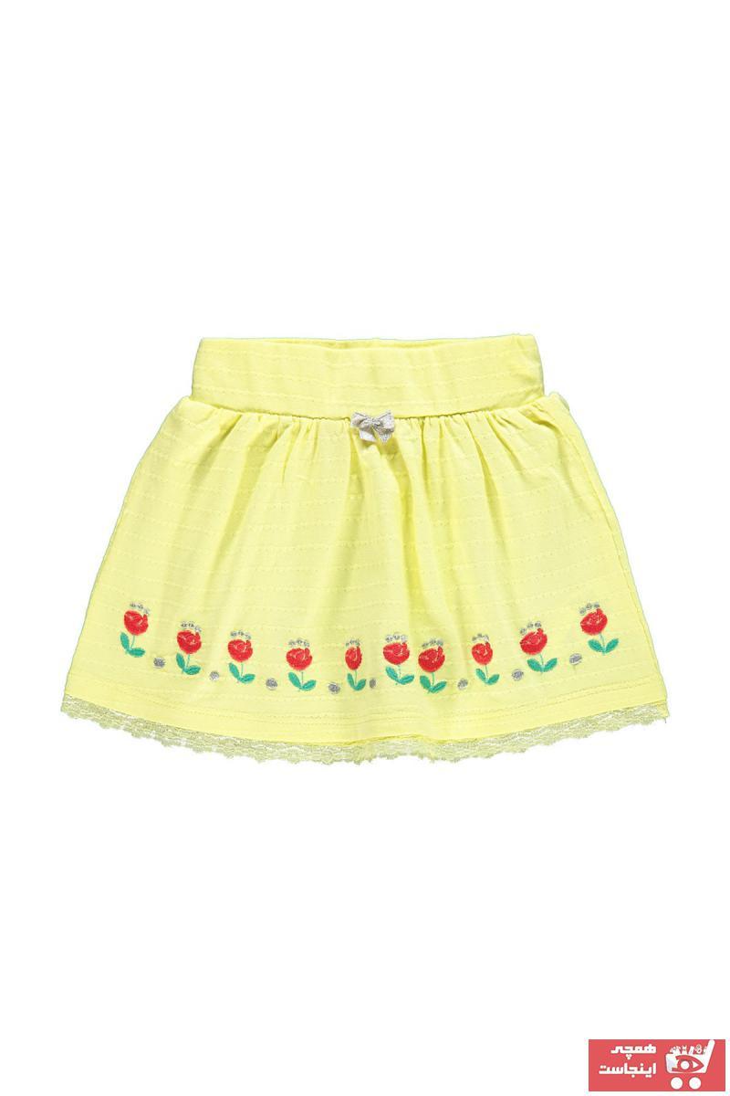 دامن 2021 نوزاد دخترانه برند Kujju رنگ زرد ty62371974