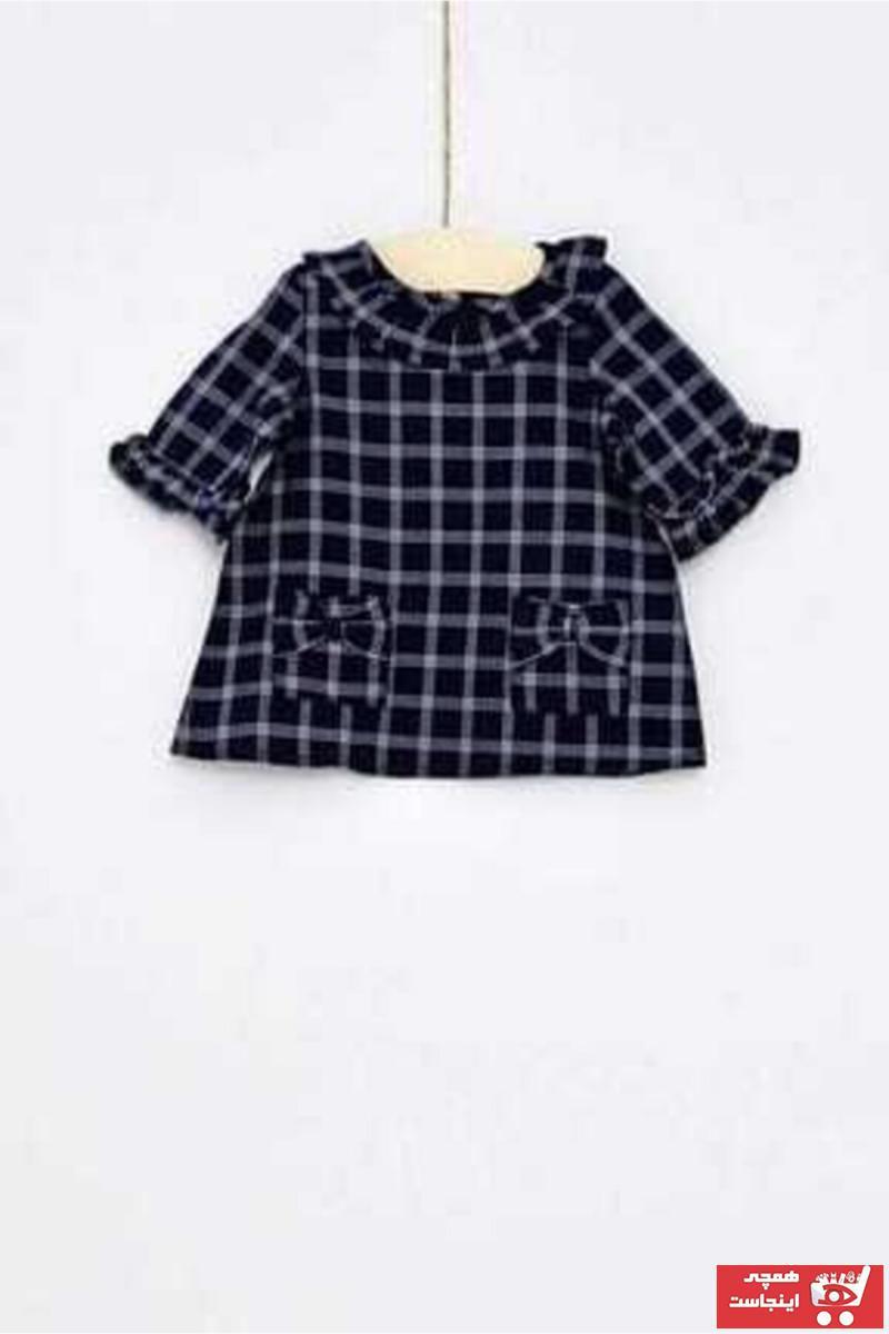 پیراهن نوزاد دختر شیک و جدید برند Çikoby رنگ لاجوردی کد ty63235154