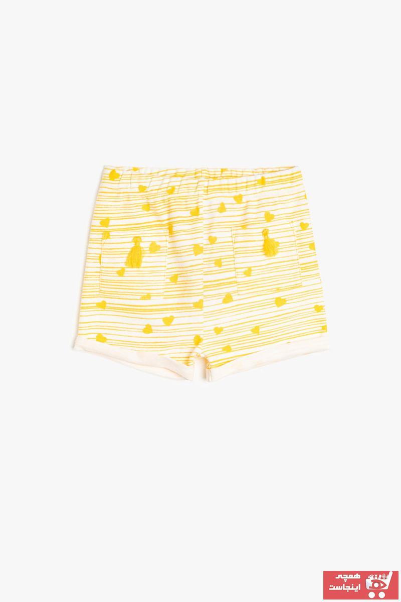 شلوارک فانتزی نوزاد دختر برند Koton Kids رنگ زرد ty6861142