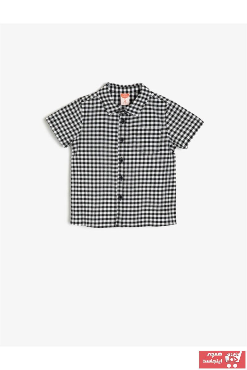 پیراهن نوزاد پسر ارزان پنبه برند Koton Kids رنگ لاجوردی کد ty6861244