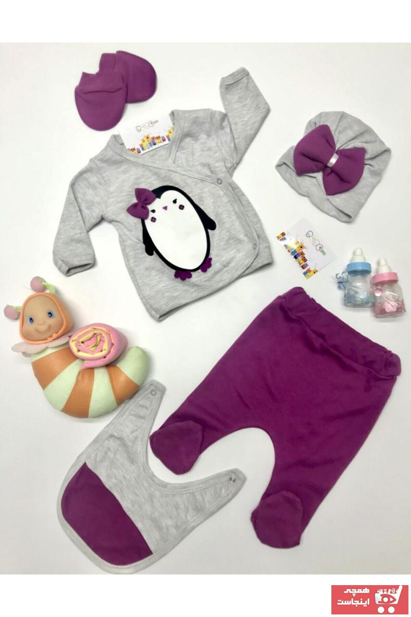 ست لباس نوزاد خاص برند Nonna Baby رنگ بنفش کد ty69282750