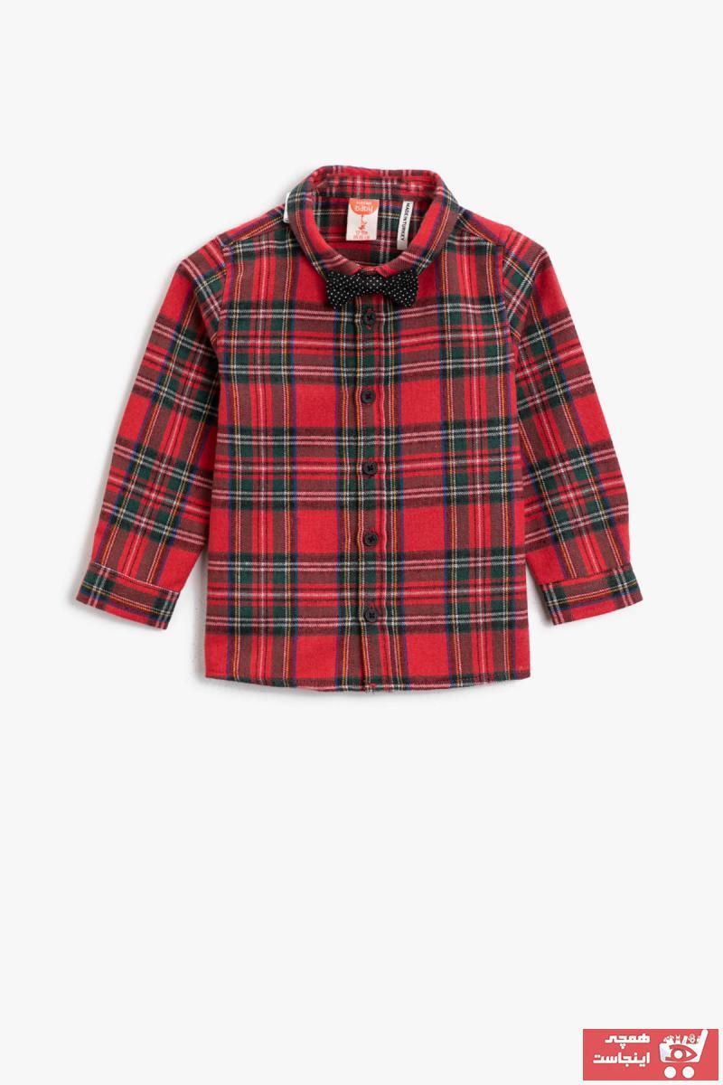 خرید انلاین پیراهن نوزاد پسرانه طرح دار برند Koton Kids رنگ قرمز ty73637233