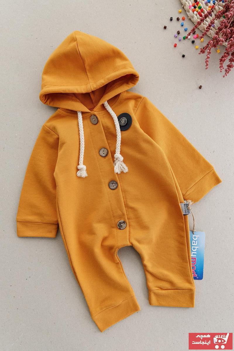 ست سرهمی نوزاد پسرانه برند Babymod رنگ زرد ty75008602