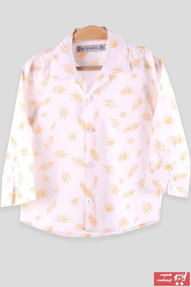 فروشگاه پیراهن نوزاد پسرانه سال 1400 برند Breeze رنگ زرد ty75592178