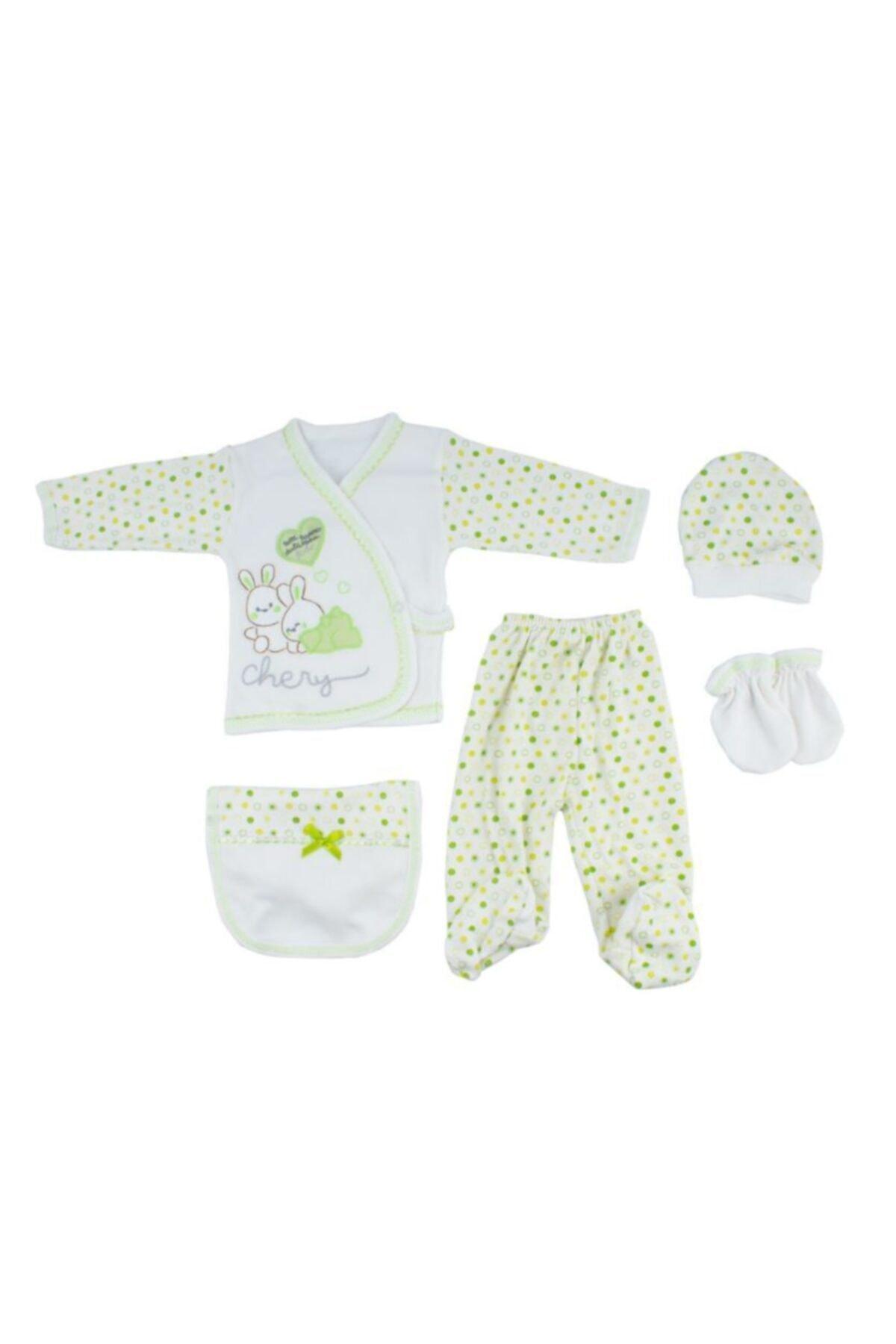 خرید نقدی ست لباس نوزاد  برند Mammakid رنگ سبز کد ty78367961
