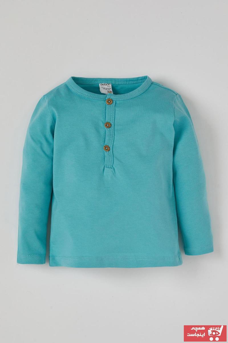فروش پستی تیشرت نوزاد پسرانه ترک برند دفاکتو رنگ آبی کد ty79723542