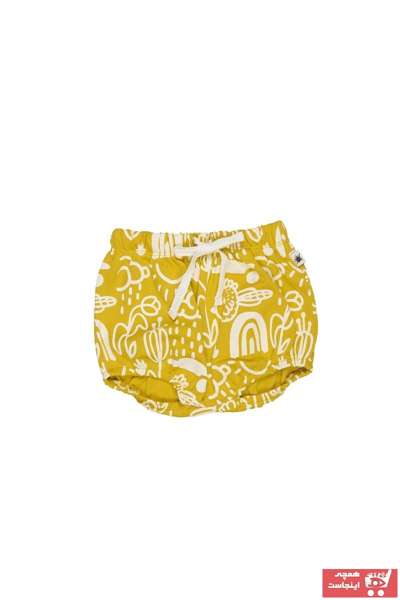 شلوارک فانتزی نوزاد دختر برند Little Yucca رنگ زرد ty79901151