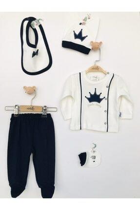 ست لباس فانتزی نوزاد برند MİNİBORN رنگ کرمی کد ty83003219