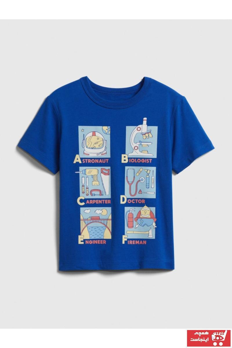 خرید اینترنتی تیشرت تیشرت نوزاد پسرانه برند GAP رنگ لاجوردی کد ty84511620