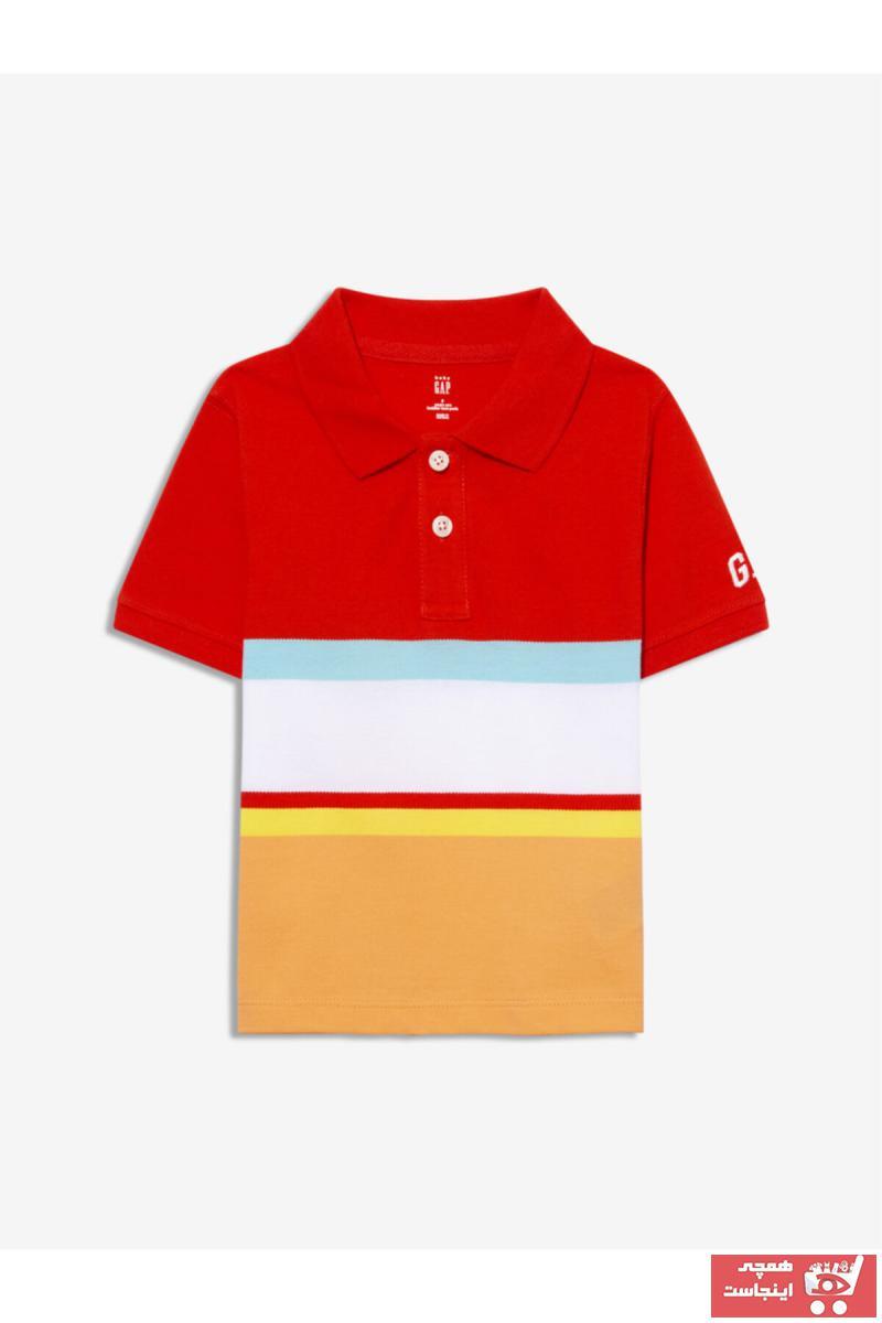 خرید نقدی تیشرت نوزاد پسرانه ترک برند GAP رنگ قرمز ty90682425