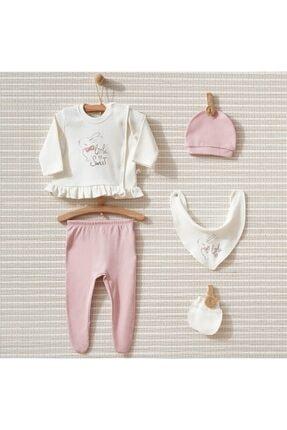 ست لباس نوزاد خفن برند Bebbek رنگ صورتی ty94099527
