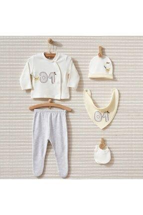 خرید انلاین ست لباس نوزاد طرح دار برند Bebbek رنگ بژ کد ty94099645