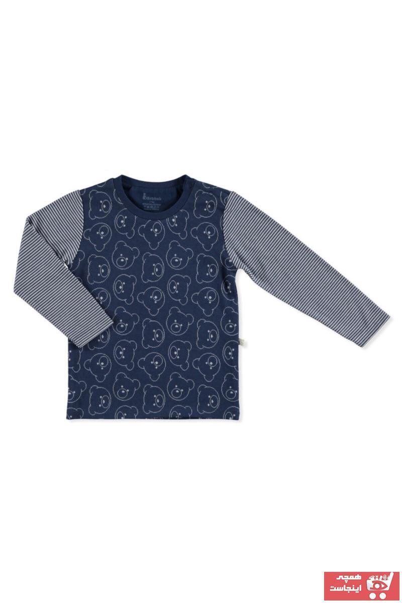 خرید اینترنتی سویشرت خاص نوزاد پسرانه برند Bebbek رنگ لاجوردی کد ty94121655