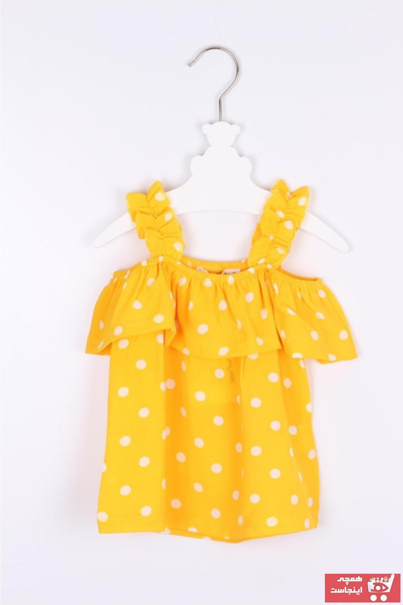 خرید نقدی بلوز ارزان نوزاد دخترانه برند BERİTBUTİK رنگ زرد ty94344074