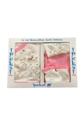 سفارش ست لباس نوزاد ارزان برند BabyLondy رنگ صورتی ty94740486