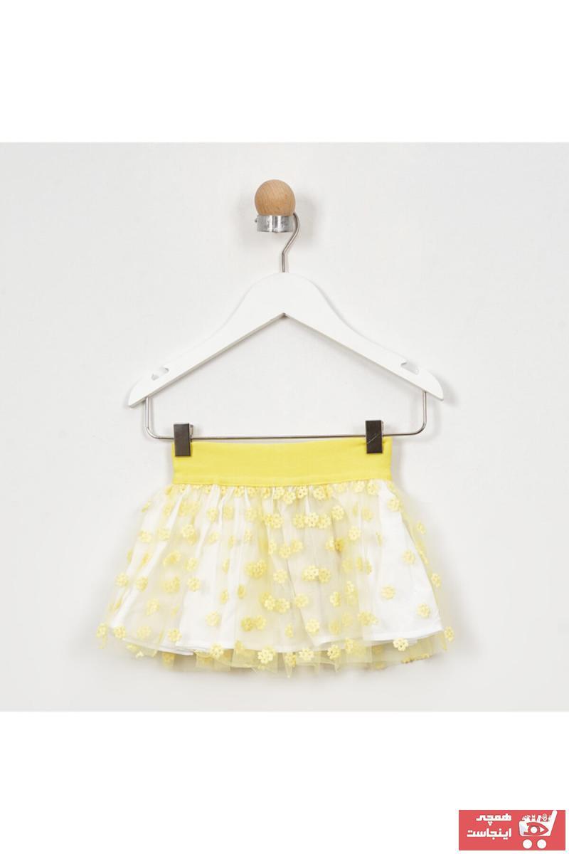 خرید پاصلی دامن زیبا برند Panço رنگ زرد ty96775598