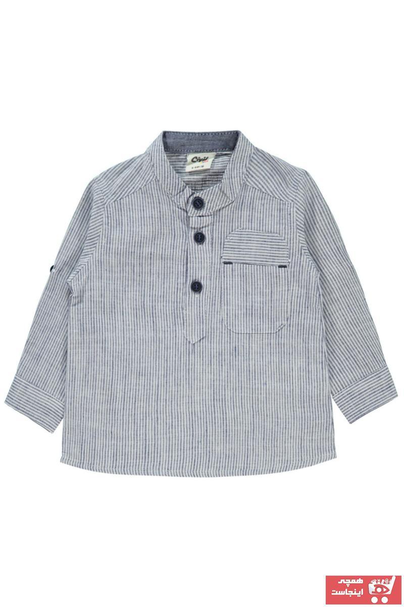پیراهن نوزاد پسر فروشگاه اینترنتی برن Civil Baby رنگ لاجوردی کد ty98297469